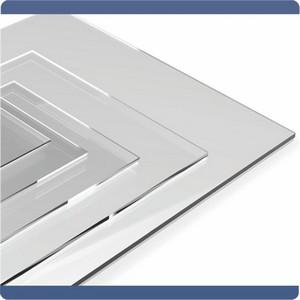 Chapa de acrílico transparente 5mm