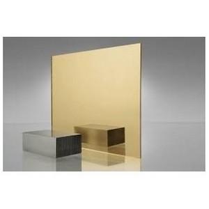 Chapa de acrílico espelhado dourado