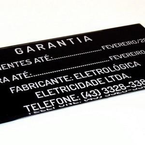 Etiqueta acrílica para painel elétrico industrial SP